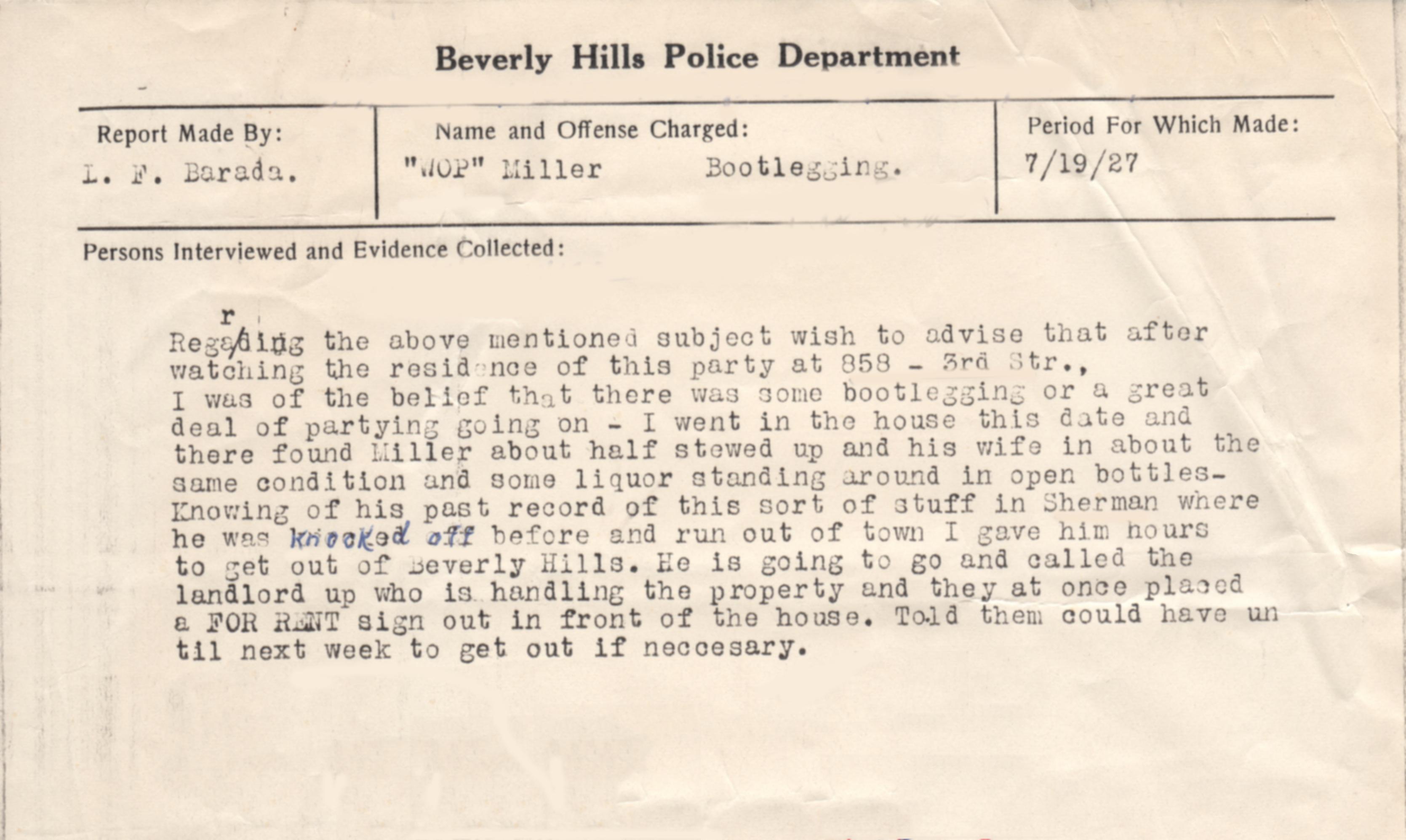 Stewed Up Original Police Report Beverly Hills