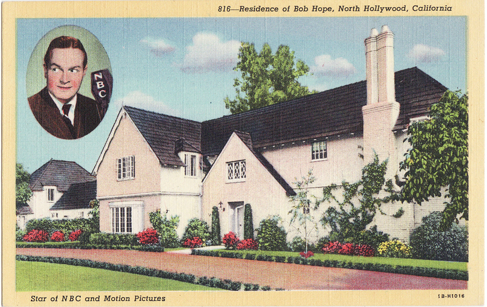 Vintage postcards of movie star homes beverly hills for Classic house voices