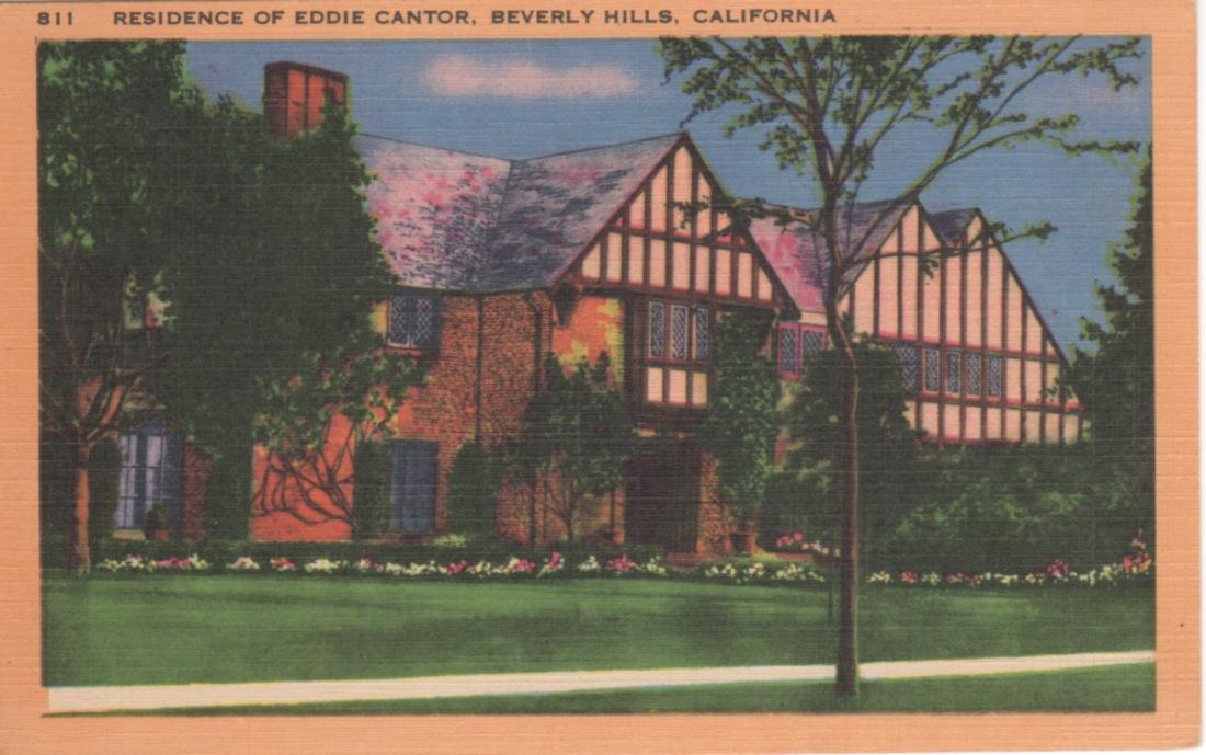 vintage postcards of movie star homes