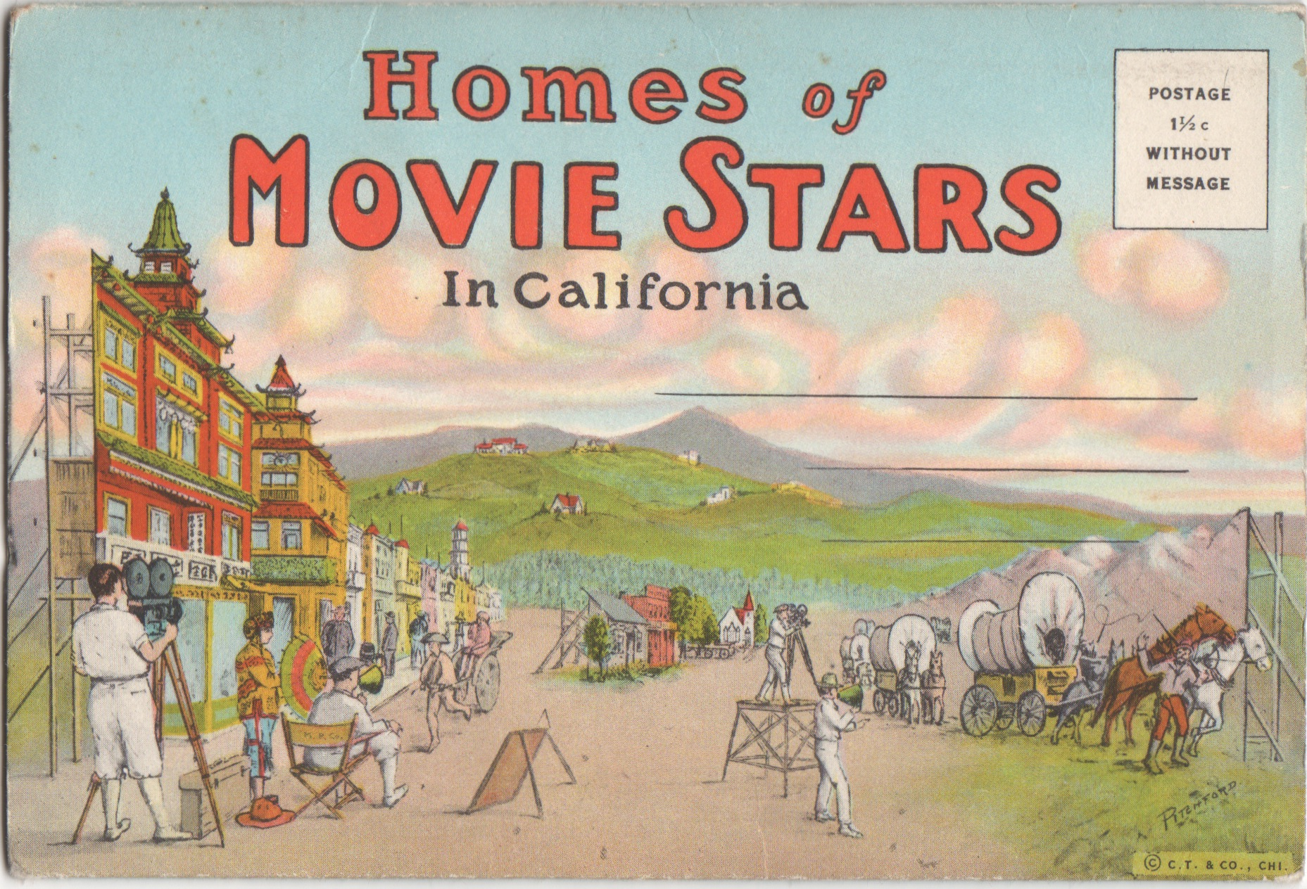 Vintage postcards of movie star homes beverly hills for Movie star homes beverly hills