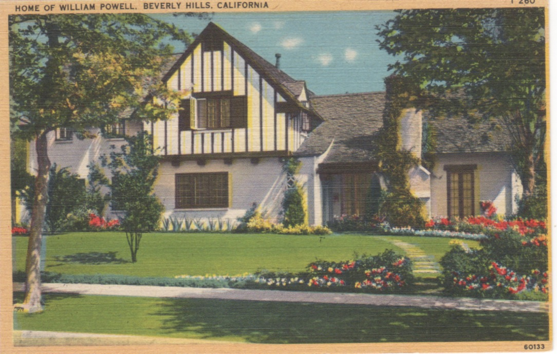 Vintage Postcards Of Movie Star Homes Beverly Hills