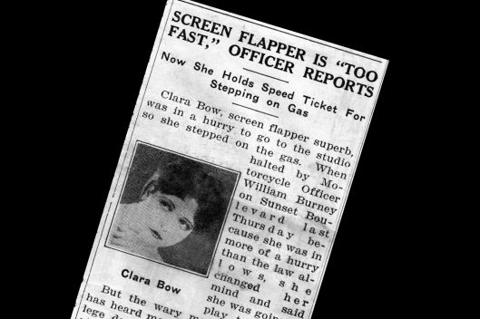 Clara Bow Speeding ticket 5-19-1927  section 1